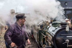 Steam loco and driver