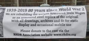 Notice about rebuilding the Armoured Train Wagon